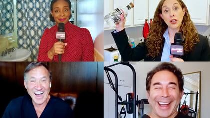 Amber Ruffin and Jenny Hagel; Terry Dubrow and Paul Nassif