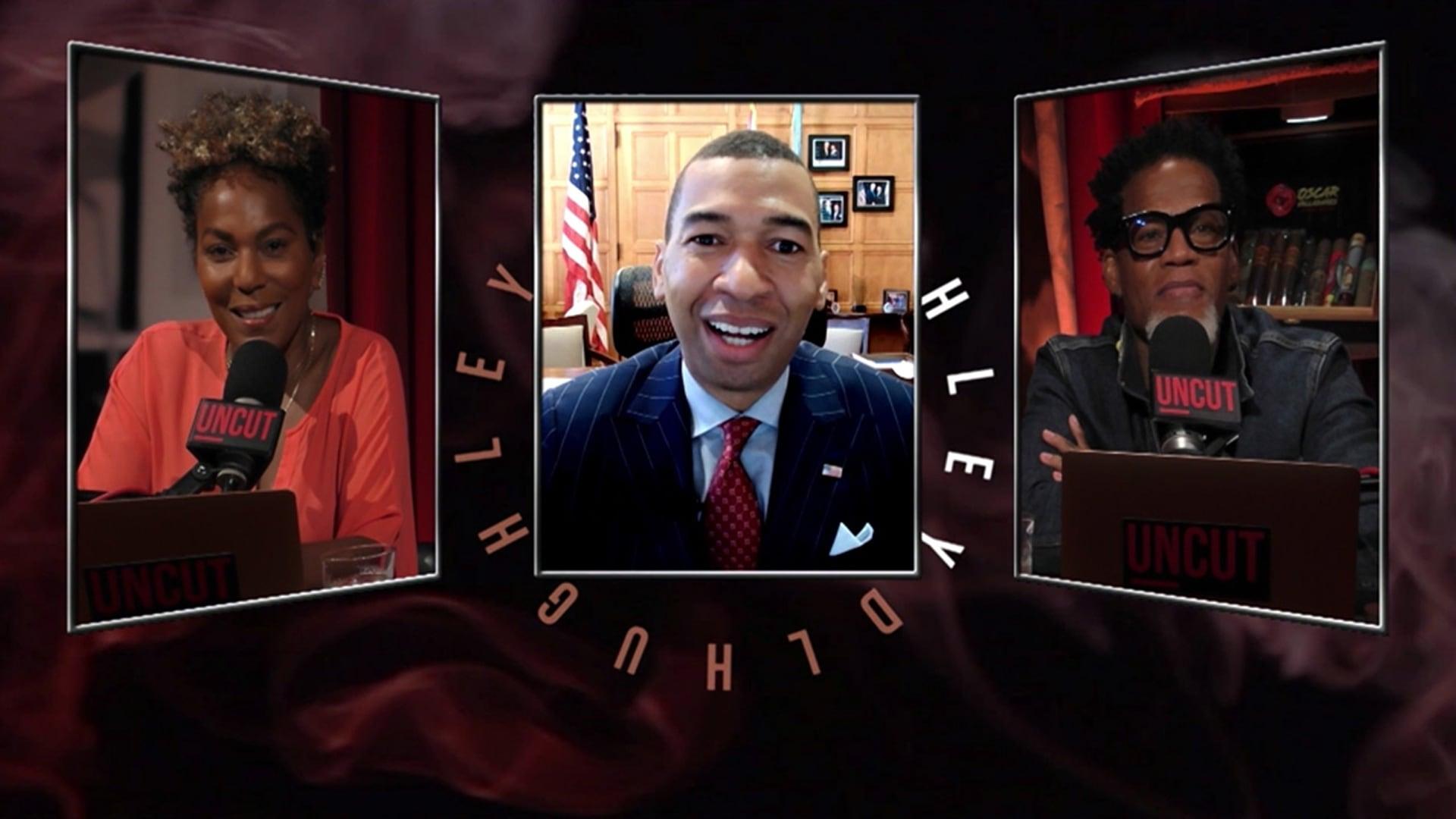 Mayor Steven L. Reed; Sybil Wilkes; Alicia Garza