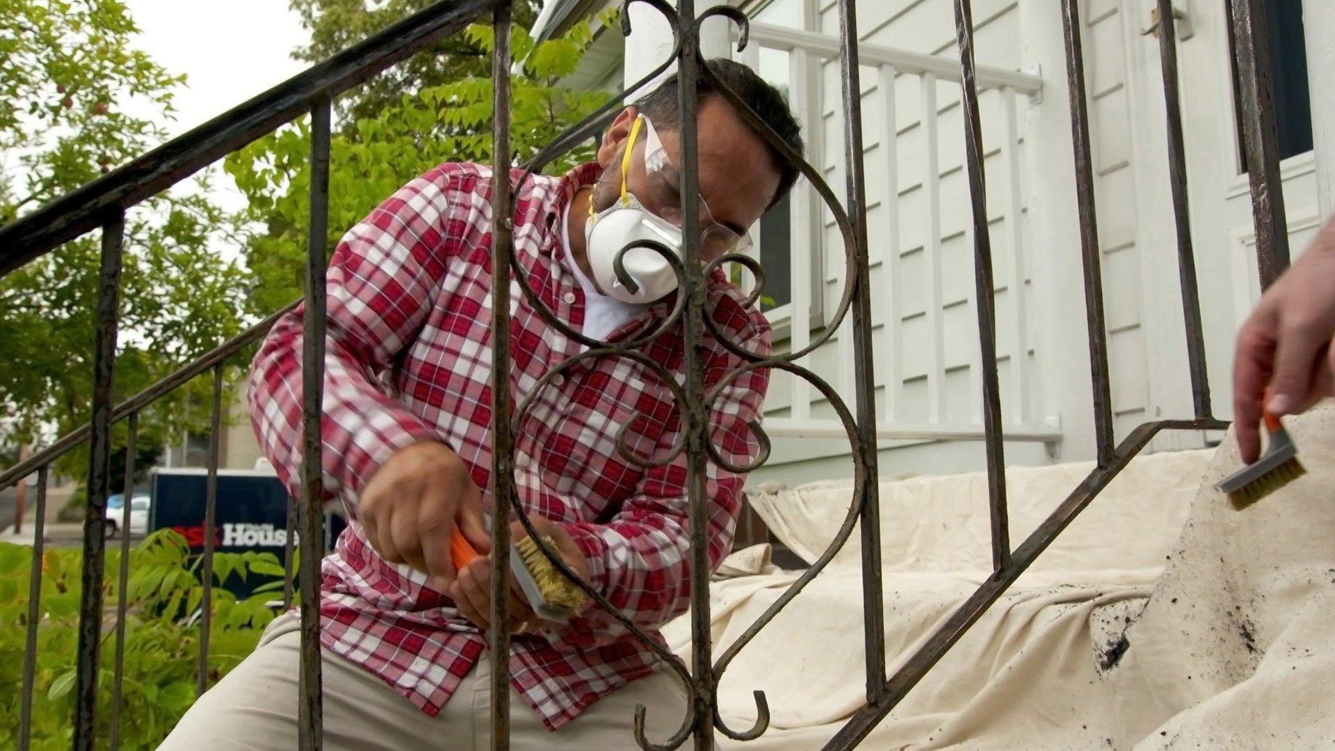 Paint Metal Railing; Wine Rack