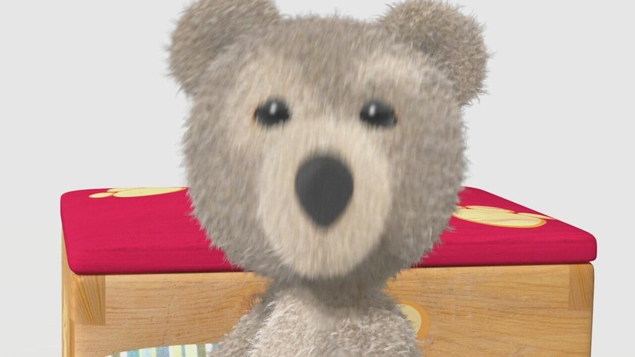 Teddy on a String