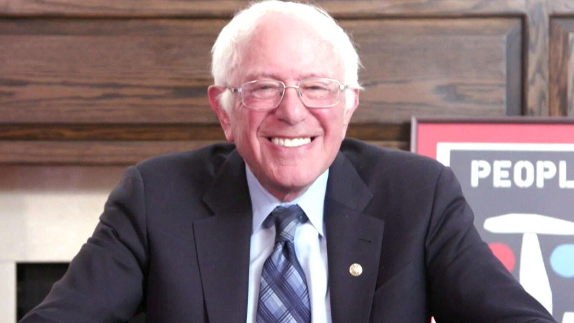 Bernie Sanders; Cue Card Wally; Brian Frasier-Moore