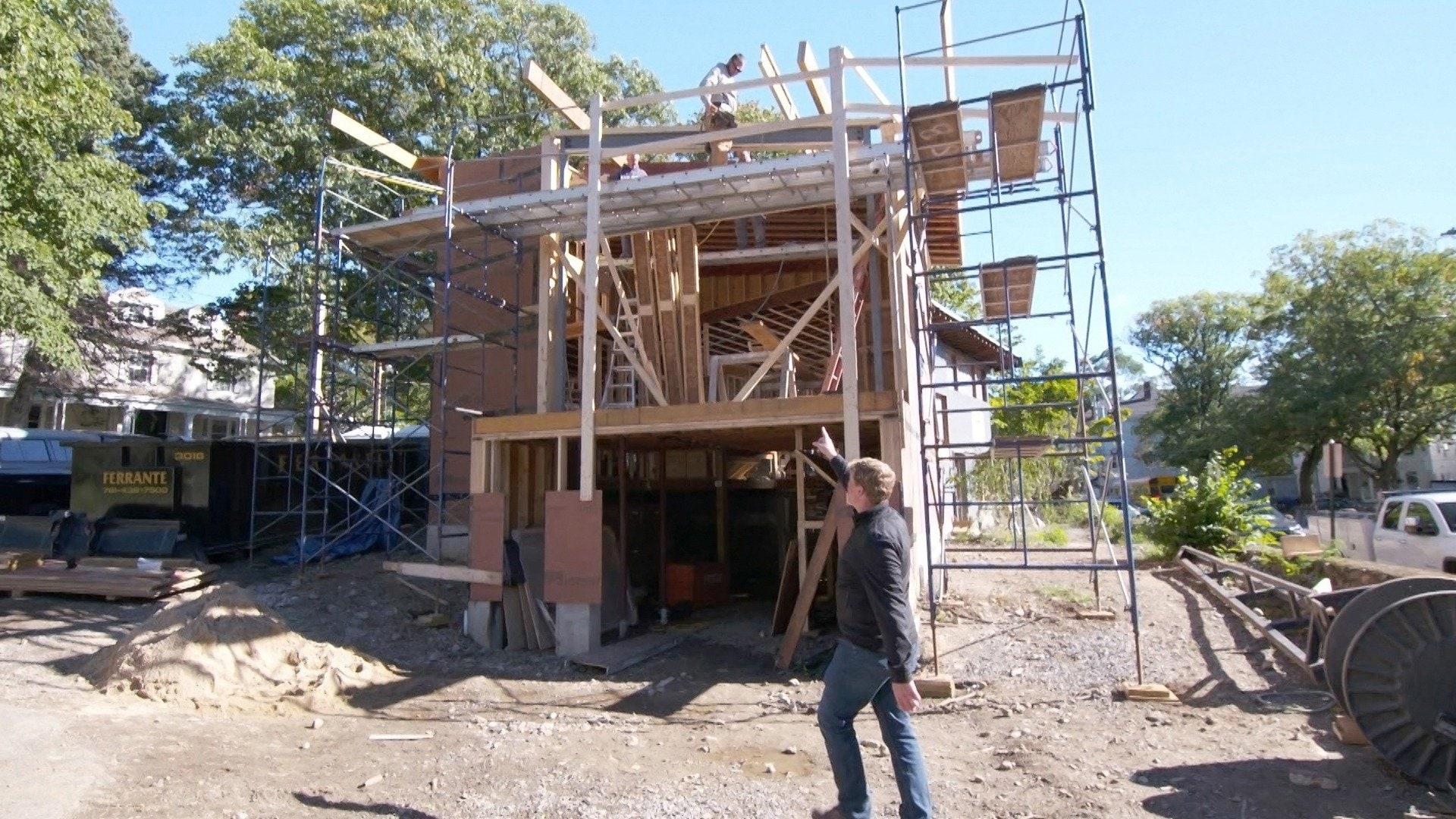 Brookline Mid-century Modern House: Stone Cold Pavers