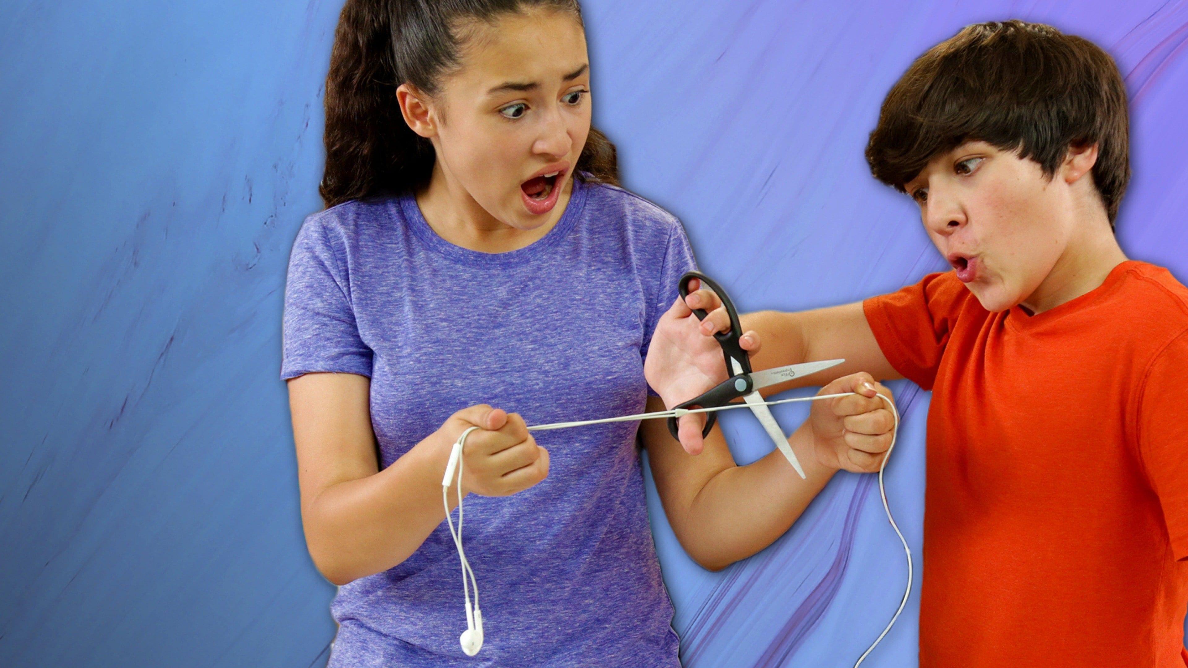 Cutting Headphones in Half Trick