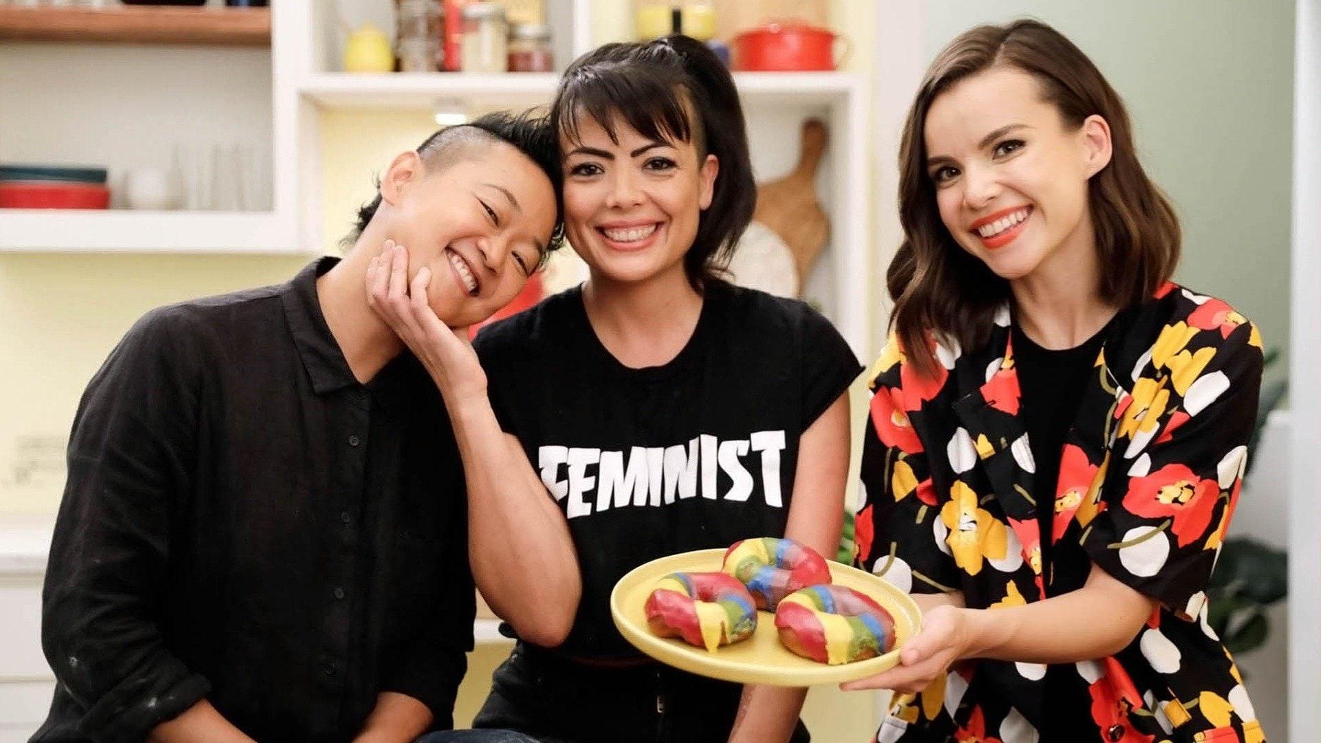 Jasmine and Sharky's Rainbow Donuts