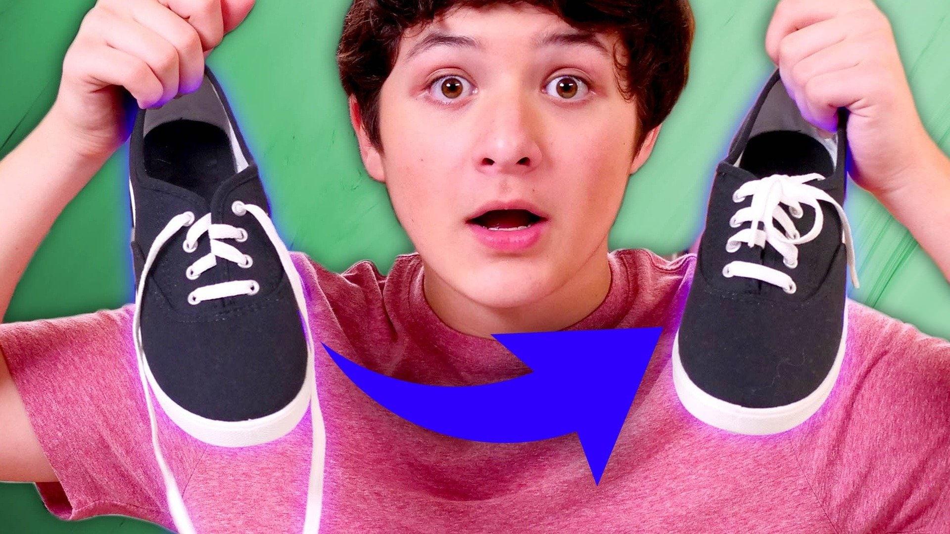 Magic Self-Tying Shoe Laces Trick