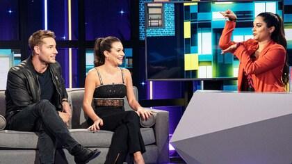Justin Hartley; Lea Michele