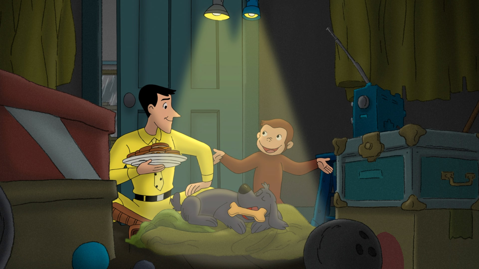 It Was a Dark and Stormy Night; Curious George, Dog Groomer