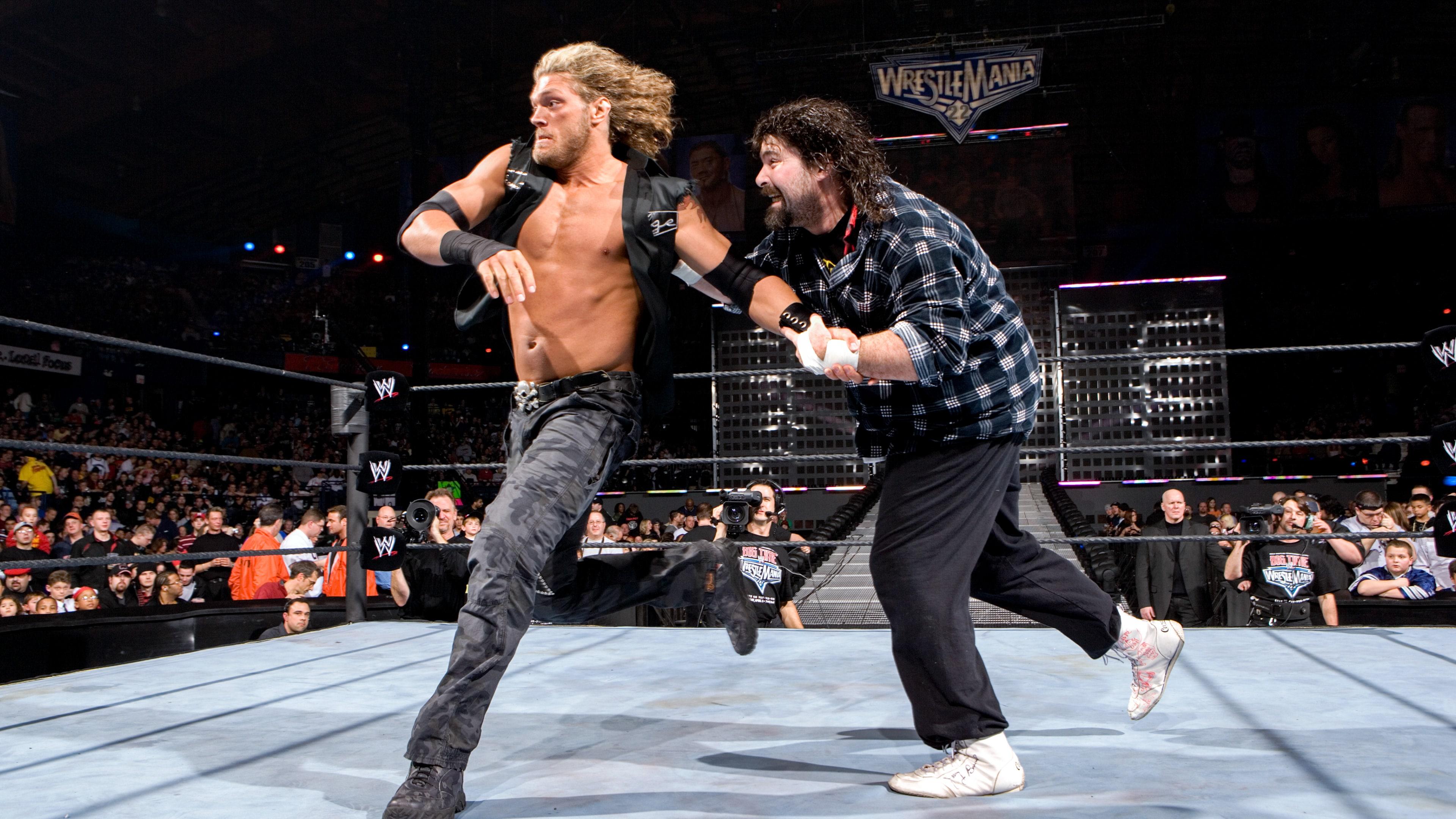 Edge vs. Foley: WrestleMania 22