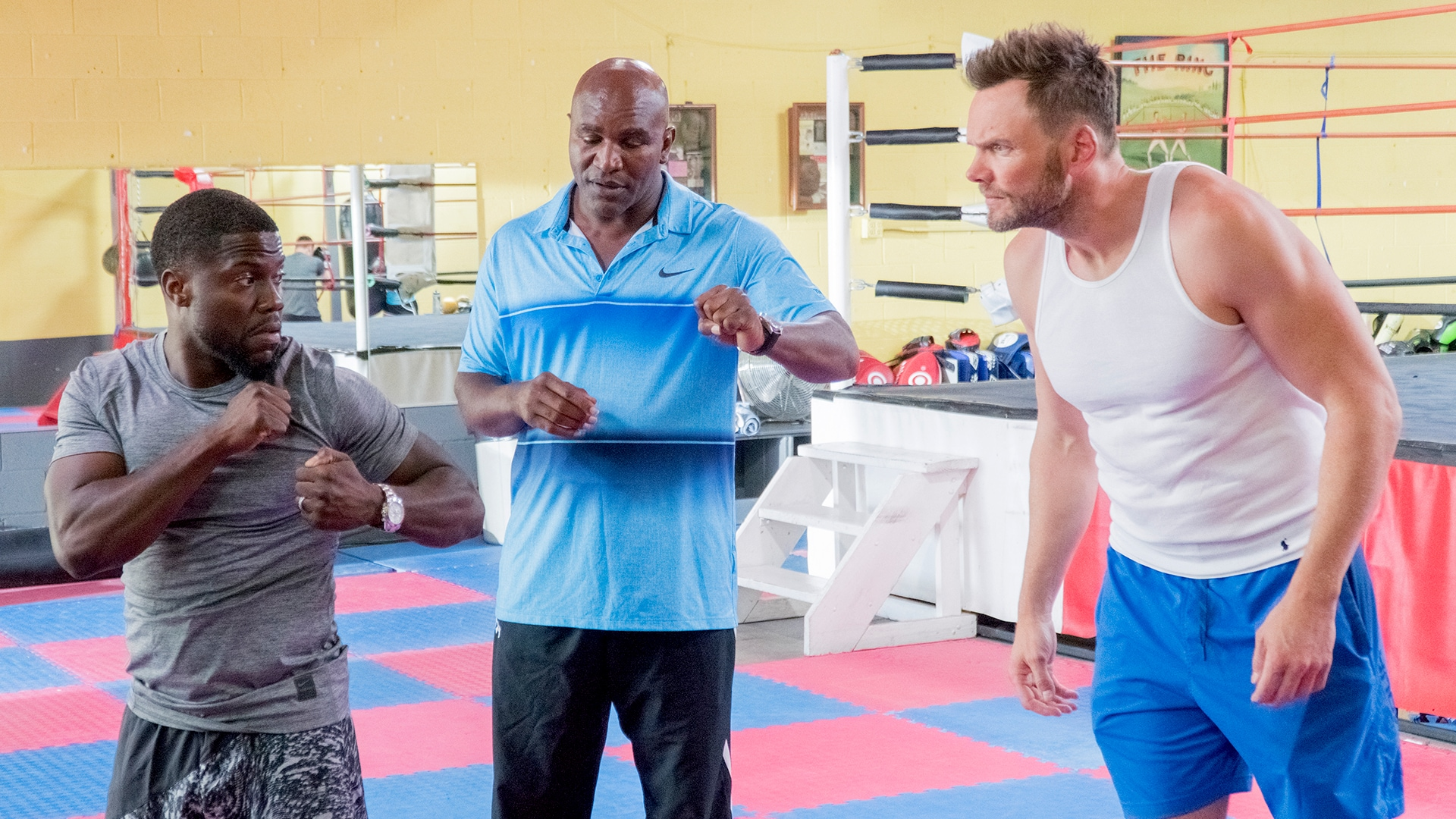 Boxing with Evander Holyfield and Joel McHale