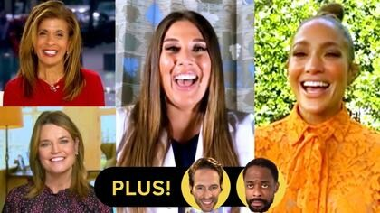 Savannah Guthrie, Hoda Kotb and Jennifer Lopez; Cast of AP Bio; Dulé Hill and James Roday