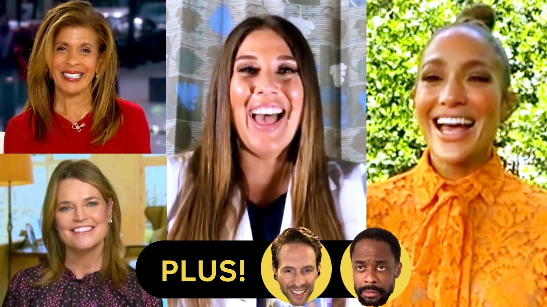Savannah Guthrie, Hoda Kotb and Jennifer Lopez; Cast of AP Bio; Dulé Hill and James Roday